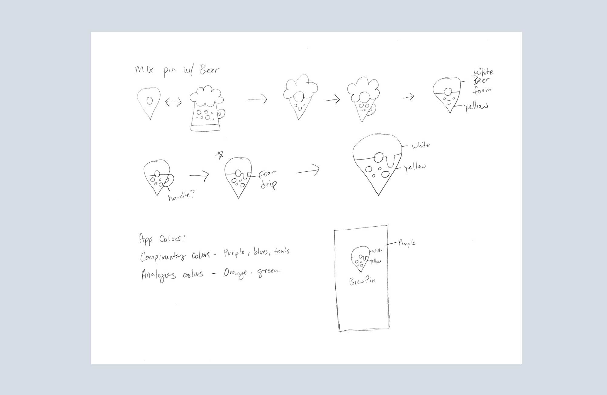 Brew Pin Icon Sketches