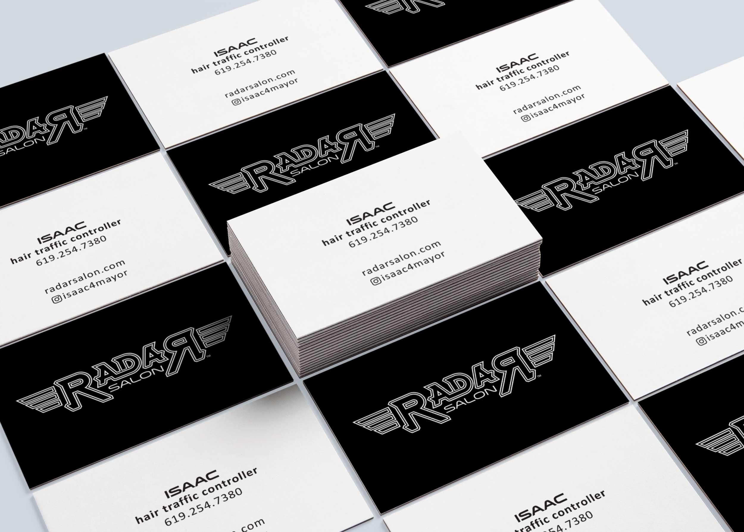 Radar Salon Business Cards