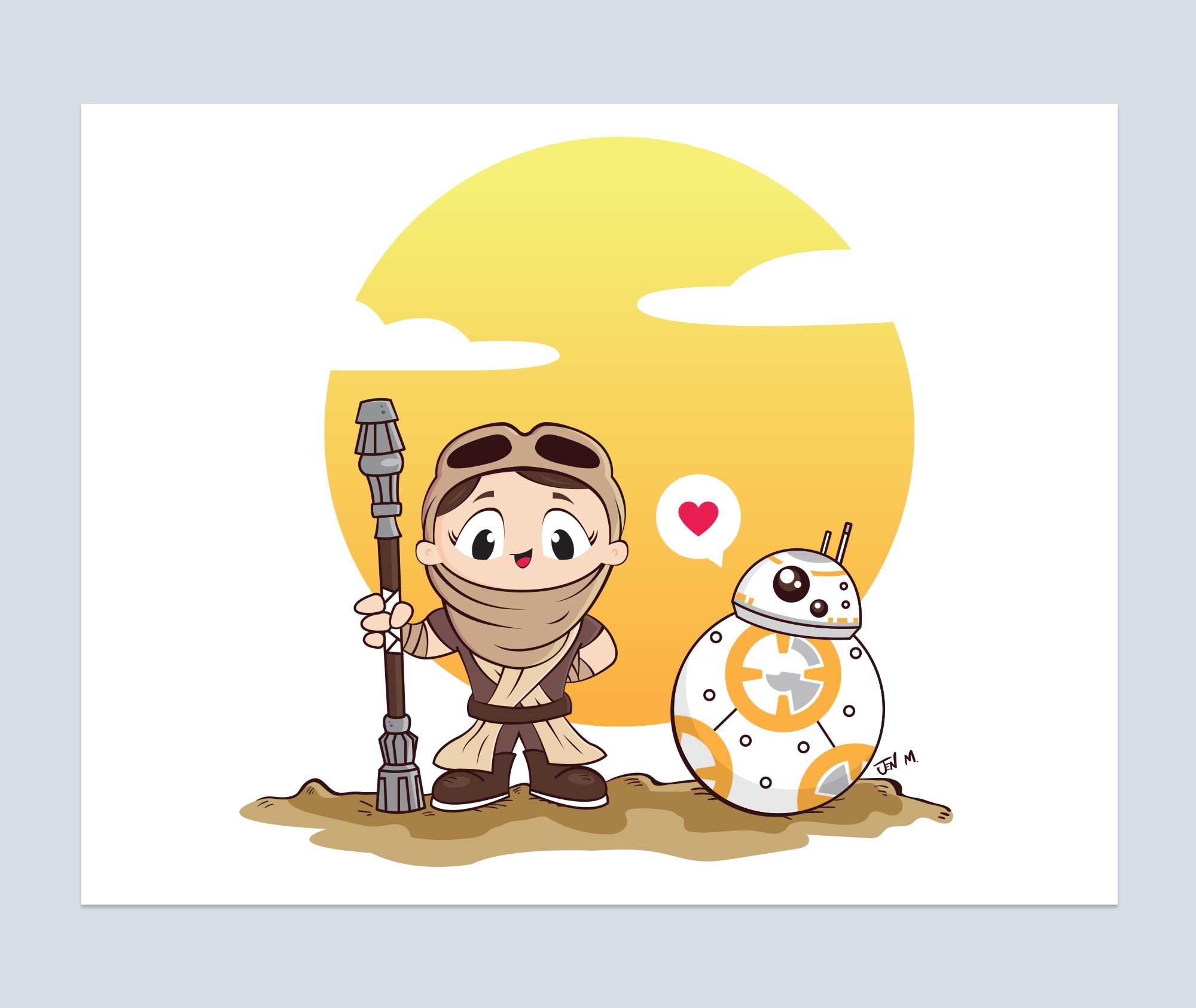 Rey Star Wars Art