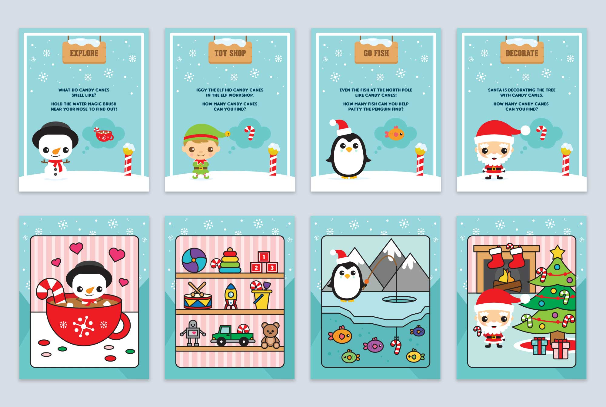 North Pole Candy Cane Pages