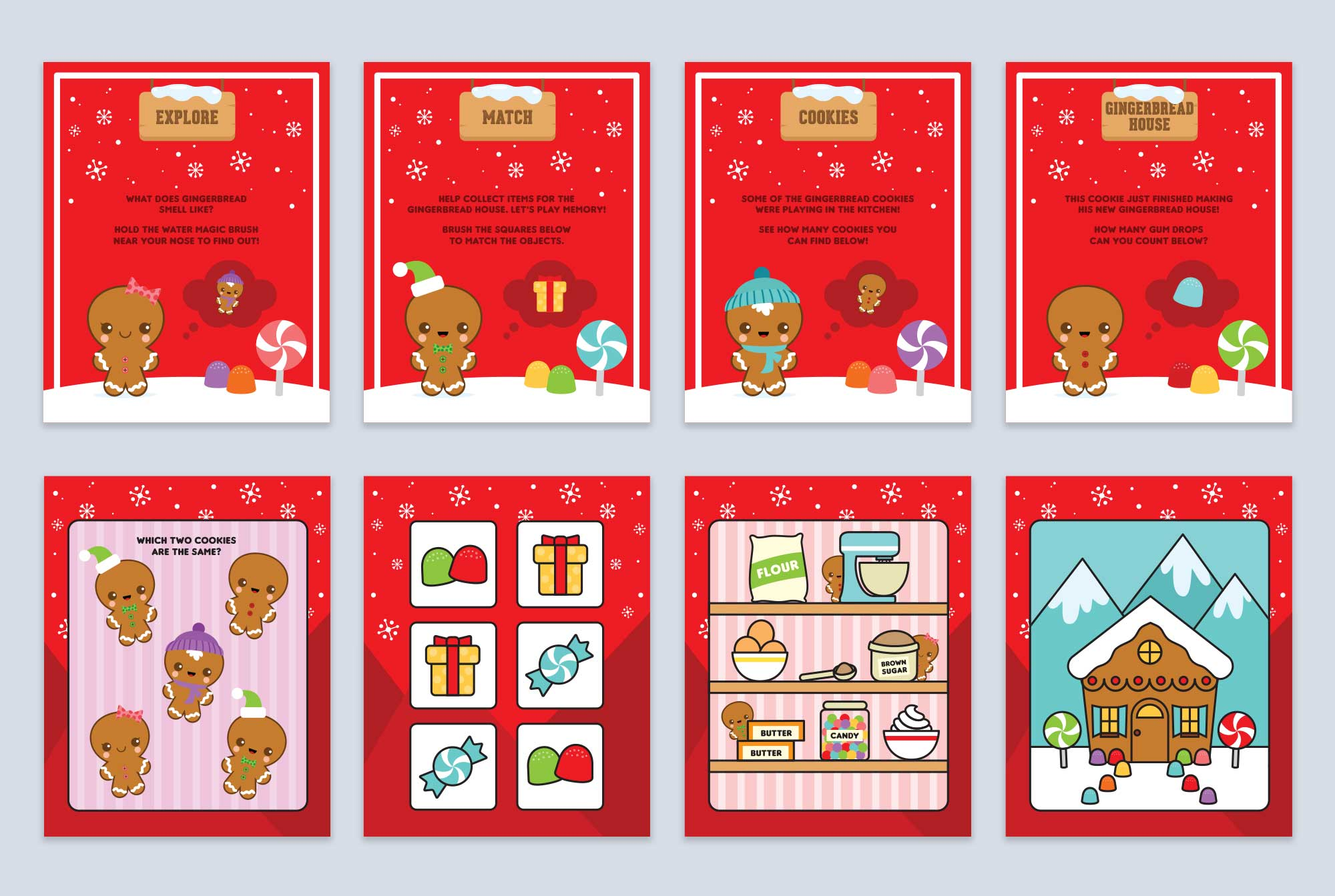 North Pole Gingerbread Pages