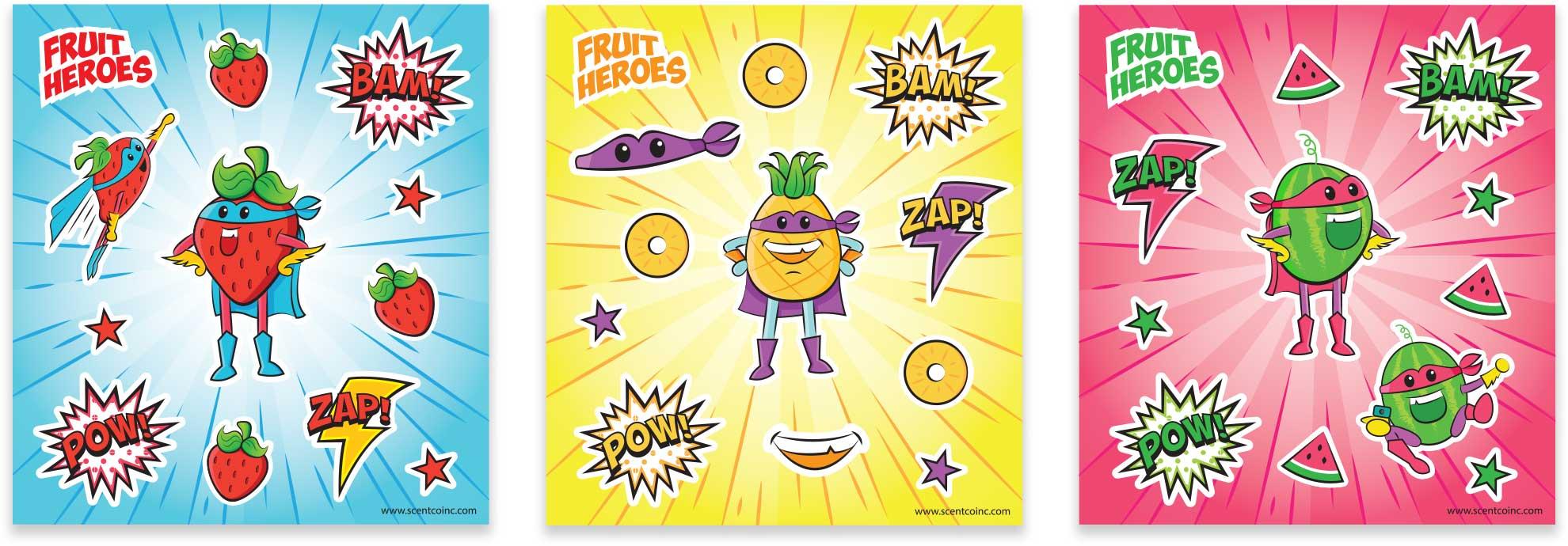 MagInk Fruit Heroes Stickers