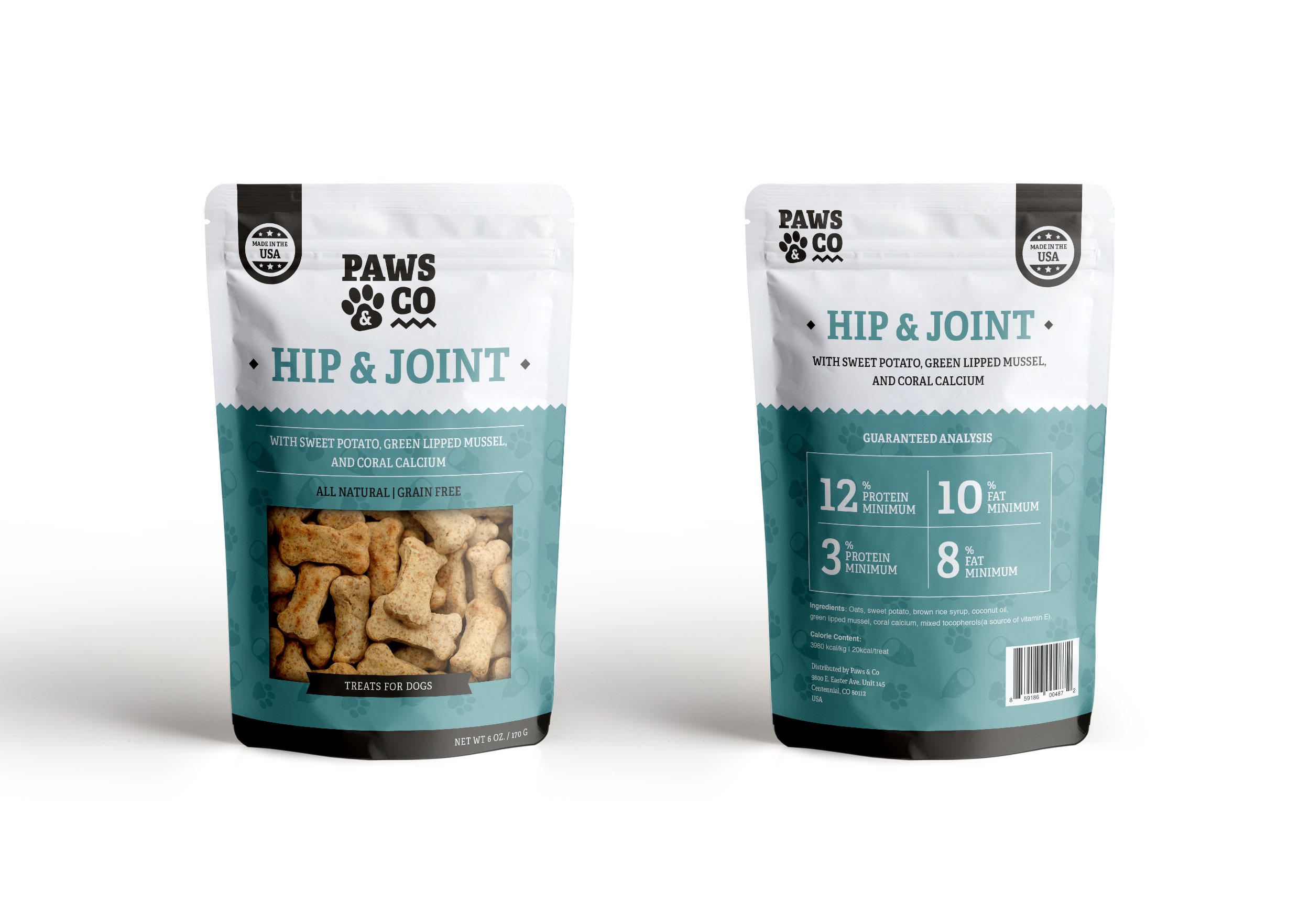 Paws & Co Hip & Joint Packaging