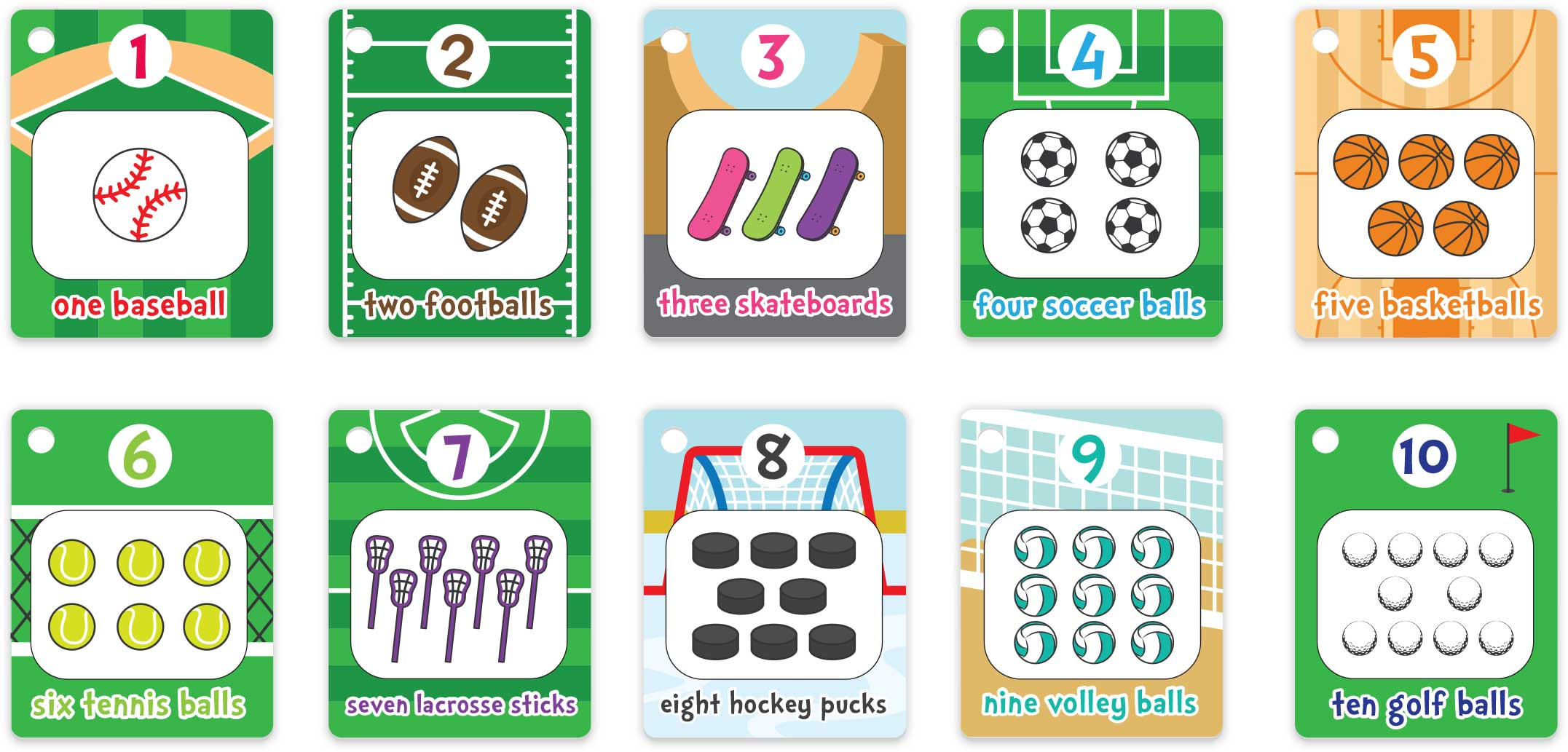 Splash Cards - Learn Numbers Cards