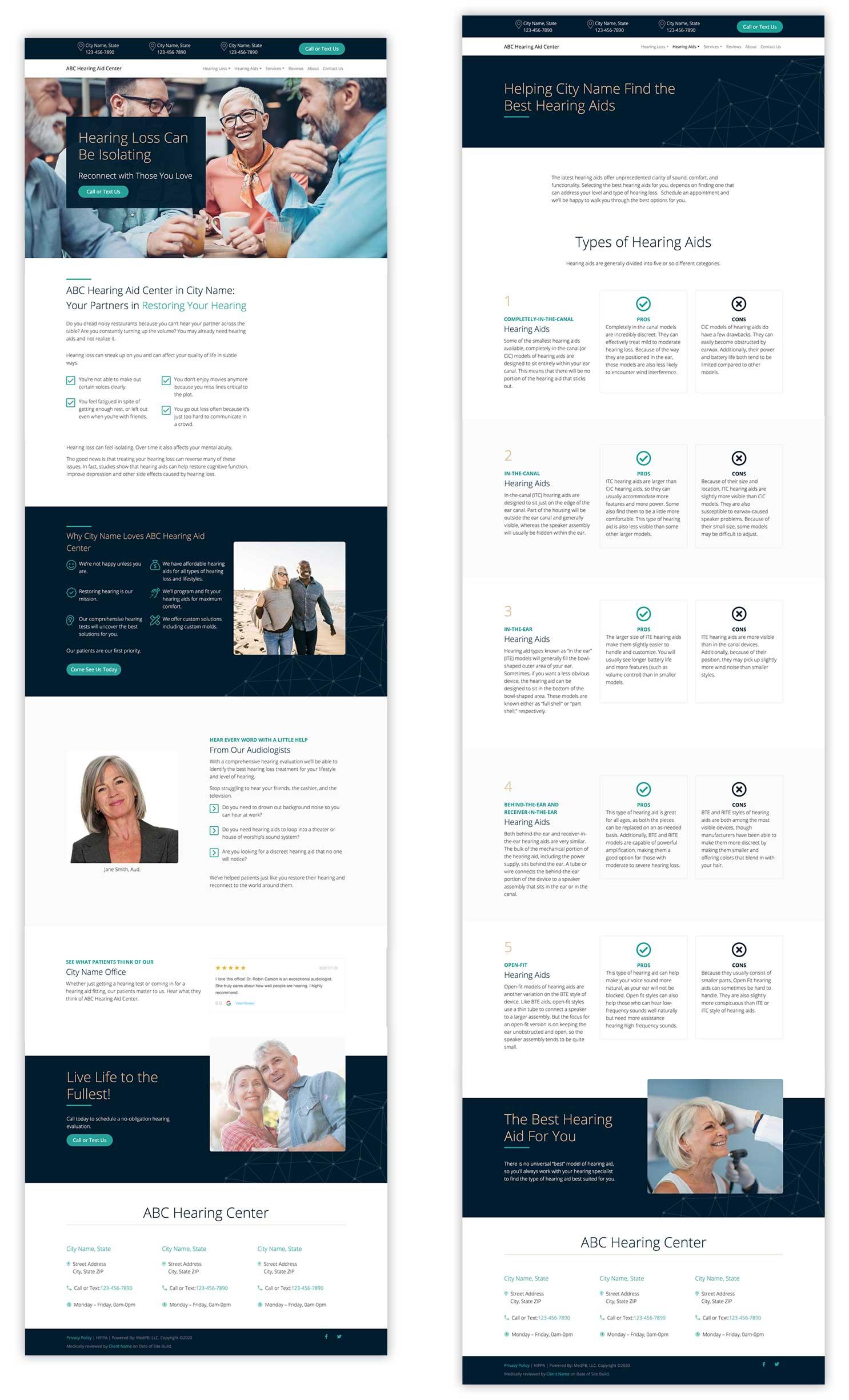 MedPB Website Pages